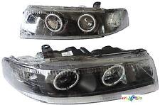 DHL- For Mitsubishi Lancer EVO Evolution CCFL Headlight 1999-2000 Black LHD