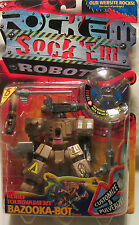 Rock Em Sock Em Robots Robo Tournament Bazooka-Bot 2001 Mattel NEW