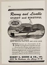 1946 Print Ad Grebe Standardized 60 Footer Yacht Boats Henry Grebe Chicago,IL