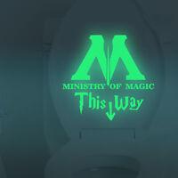 Harry Potter Wandtattoo nachtleuchtend  Aufkleber Ministry of magic