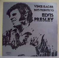 """33T Vince EAGER Vinyl LP 12"""" PAYS TRIBUTE TO ELVIS PRESLEY - MUSIDISC 1305 RARE"""