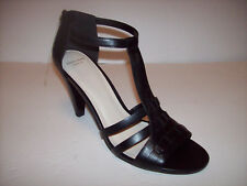 e965158d5271 New COLE HAAN Black leather high heel ankle strap strappy sandals US 10.5B  (Med