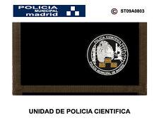 Police wallets: municipal police madrid/unit police scientific