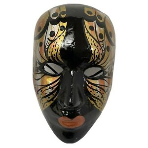 "Paper Machel Clown WalMime Mardi Masquerade ll Hanging Art  7 1/2"" x 2"" x 5"""