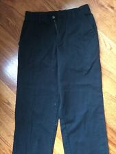 Boys Izod Khaki Pants School Uniform Navy Blue Size 16 Regular Fit 28 x 28