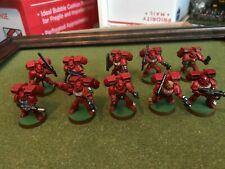 Warhammer 40K Blood Angel Assault Squad x 10 painted