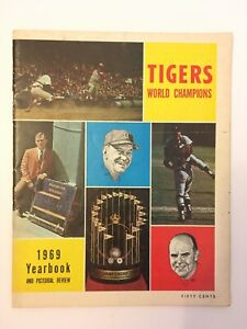 1963 - 1969 Detroit Tigers Yearbook Collection - Lot of 7 Yearbooks Autographed