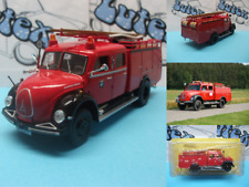 Fire truck camion pompiers bomberos Magirus-Deutz Mercur TL16  Ixo/Salvat 1:43