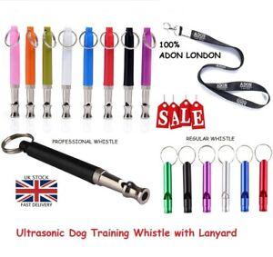 Metal ULTRASONIC Silent Recall DOG TRAINING WHISTLE with Lanyard STOP BARKING