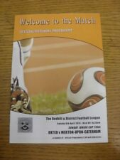 06/04/2014 Redhill League Sunday Junior Cup Final: Oxted v Merton-Upon-Caterham