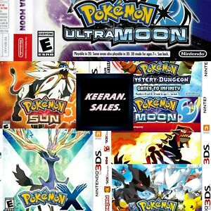 Pokemon 3DS Nintendo -  Replacement Case * NO GAME * Case Only Reproduction