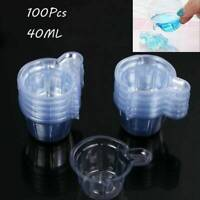 100Pcs 40ML Epoxy Resin Plastic Measuring Cups For Resin Mold Jewelry Making DIY