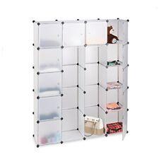 Relaxdays Étagère Cubes Rangement penderie Armoire 14 compartiments Plastique...