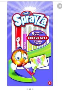 BNIP 100% Authentic Renart Sprayza 5 Sprayza Pens Colour Set
