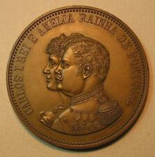 Kings of Portugal / CARLOS I and AMÉLIA / Bronze Medal by Cabral Antunes