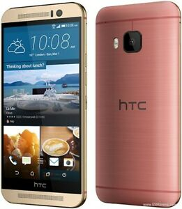 HTC One M9 32GB AT&T GSM phone, gold-mint condition, no sign of use