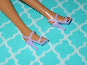 Mattel Barbie Doll Shoes FASHIONISTAS FASHION FEVER LIGHT PURPLE HIGH HEELS