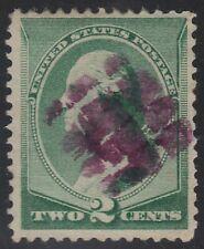 US Scott # 213 2c Washington Fancy Cancel Nice Purple Strike