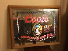 Coors, America's Fine Light, Mirror, Beer Sign