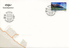 Iceland 2018 FDC Siglufjordur 100th Anniv 1v S/A Cover Mountains Tourism Stamps