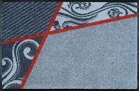 wash+dry Fußmatte Türmatte Teppich waschbar Läufer 50 x 75 cm Belgo grey