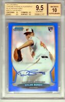 "2013 Bowman Chrome Rookie Auto Blue Ref .""Dylan Bundy""  BGS 9.5 True + Must See"