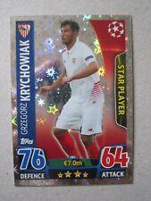 Champions League 2015/16 Star Player card Grzegorz Krychowiak of Sevilla