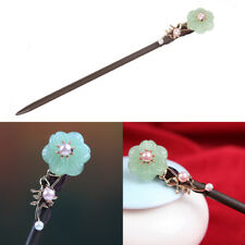 Chinese Vintage Flower Pearl Wooden Hair Sticks Chopsticks Hairpin Chignon Pin