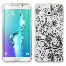 For Samsung Galaxy S6 Edge Plus Black Four-leaf Clover Skin Case Cover