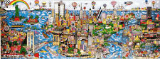 """Fazzino, Charles """"The World Loves N.Y.C."""" Mural DX 83x21 Special Edition Framed"""