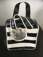 Loop NYC Andy Warhol Edie Sedgwick Travel Metallic Black White Stripe Bag Purse