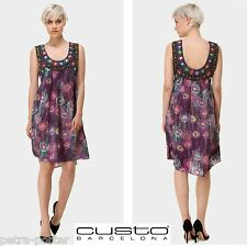 375€ CUSTO BARCELONA. VESTIDO Pedrería Courty S/38. Jeweled Dress.Vestito.Robe