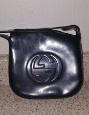 Authentic Vintage Gucci Black Patent Leather Handbag