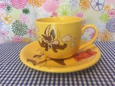 """More details for wile.e coyote vintage warner bros """"bad morning large cup/saucer. great condition"""