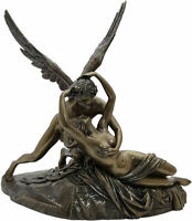 Eros / Cupid and Psyche / Soul  Cold Cast Bronze Statue 19.6x18cm / 7.7x7inches