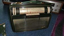Philips Babette seltenes Röhrenkoffergerät in grün Bakelit mit org. Tasche