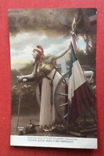 CPA. Canon 75. Drapeau. Casque Allemand. Jeune Fille. 1915. Guerre.