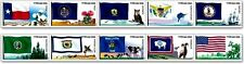 US SCOTT #4323-4332 44c FLAGS OF OUR NATION SET 6 - 1 STRIP PN10 MNH COIL STAMPS