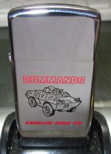 ZIPPO LIGHTER Vintage RARE 1973 NEW COMMANDO ARMORED CAR TANK  NEW ADVERTISEMENT