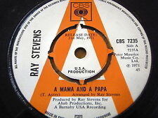 """RAY STEVENS - A MAMA AND A PAPA  7"""" VINYL PROMO"""