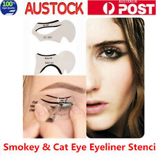 2pcs Smokey & Cat Eye Eyeliner Stencil Template Makeup Eye Liner Stencils