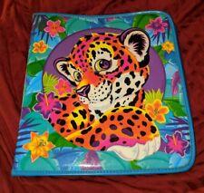 Lisa Frank Vintage Leopard Trapper Notebook Keeper Binder 1990s Baby RARE HTF