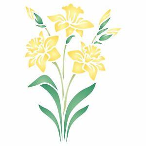 Daffodil Stencil Spring Flower Floral Perennial Stencils