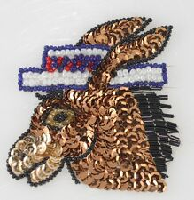 Political Democrat Donkey Sequin Applique Eye Catching Let the them know.....