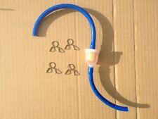 NEW PIT BIKE PETROL FUEL FILTER BLUE HOSE AND 4 CLIPS QUAD ATV GO CART MINIMOTO