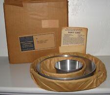 KRAFT Foods Mirro Aluminum 4 Cake Pan Set MIB Circa 1955
