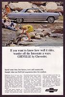 1965 Vintage Chevy Chevrolet Malibu Super Sport Coupe Car Photo Print AD