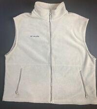 Columbia XXL Khaki Light Tan Full Zip Fleece Vest