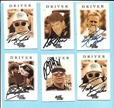 1995 Action Packed Nascar Autograph Lot(6) Bodine, Mast, Andretti,Craven,Grissom