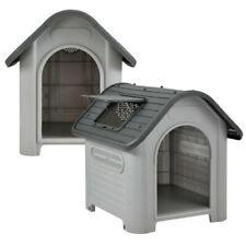 Caseta para Perro Casa de Cueva Animales Resistente Intemperie Plástico Exterior